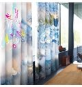 3D Christmas Decorations Printed 2 Panels Polyester Custom Living Room Curtain