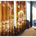 Festival Home Decoration Christmas Gifts Printed Polyester Custom Living Room Curtain