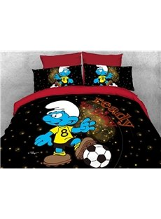 Soccer Smurf Ready to Play Shinning Stars 4-Piece Bedding Sets/Duvet Covers