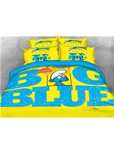 Brainy Smurf Big Blue World 4-Piece Bedding Sets/Duvet Covers