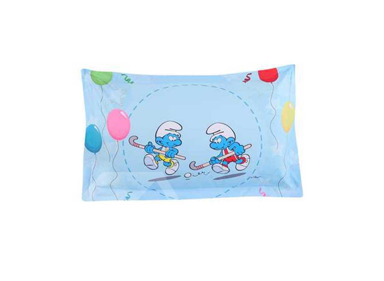 Hockey Smurfs with Colorful Balloons 3-Piece Kids Bedding Sets/Duvet Covers