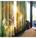 3D Pretty Girl and Magic Lamp Printed Fairy Tale 2 Panels Custom Living Room Curtain