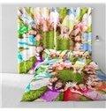 3D Lovely Children Printed 2 Panels Living Room and Bedroom Custom Curtain
