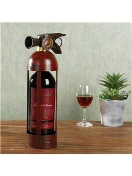 Crative and Retro Style Extinguisher Design Iron Home Decorative Wine Rack