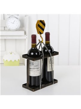 Modern and Elegant Style Loop Wheel Machine Design Iron Home Decorative Wine Rack