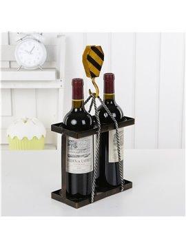 Modern and Elegant Style Loop Wheel Machine Design Iron Home Decorative Wine Rack