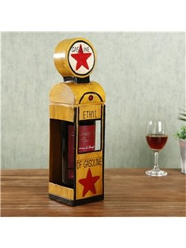 Modern and Retro Style Gas kiosk Design Iron Home Decorative Wine Rack