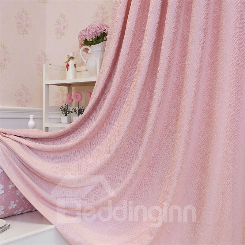 Concise Style Elegant and Romantic Pink 2 Panels Decorative Custom Curtain