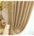 Concise Style Elegant and Delicate Light Brown 2 Panels Decorative Living Room Curtain