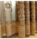 Retro Concise Style Embroidered Chenille Custom Sheer Curtain for Living Room