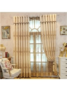 European and Elegant Style Thick Chenille Decorative and Breathable Sheer Curtain