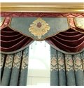 Classical Embroidered Damask Pattern Light Green Custom Blackout Living Room Curtain