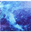 Vivilinen 3D Space Galaxy Printed 5-Piece Fluorescent Blue Comforter Sets