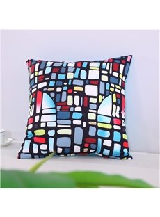 Multi-Color Glazed Bricks Buildings Decorative Square Cotton Throw Pillowcases