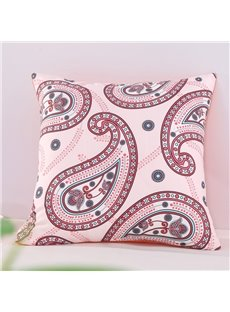 Orange Floral Paisley Pattern Exotic Style Decorative Square Cotton Throw Pillowcases