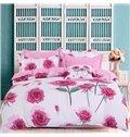 Adorila 60S Brocade Bunches of Roses Romantic 4-Piece Cotton Bedding Sets/Duvet Cover