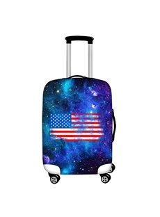 American Flag with Galaxy Waterproof Suitcase Protector for 19 20 21