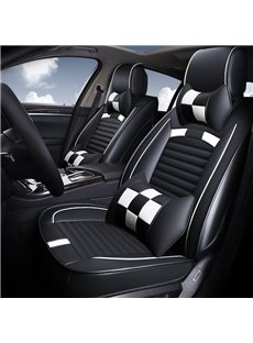 Sports Design Bright Grid Pattern Leather Universal Car Seat Covers