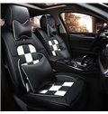 Luxurious Sports Style Grid Design Durable Leather Universal Car Seat Cover