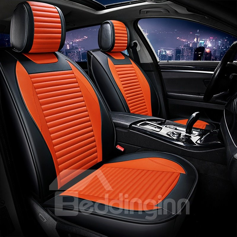 Simple Sport Genuine Pleasing Leather Universal Car Seat Covers