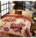 Branches Flowers Printed Anti-Static 2 Ply Reversible Heavy Plush Raschel Bed Blanket
