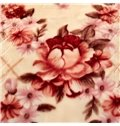 Pale Mauve Flowers Printed 2 Ply Reversible Heavy Plush Raschel Bed Blanket