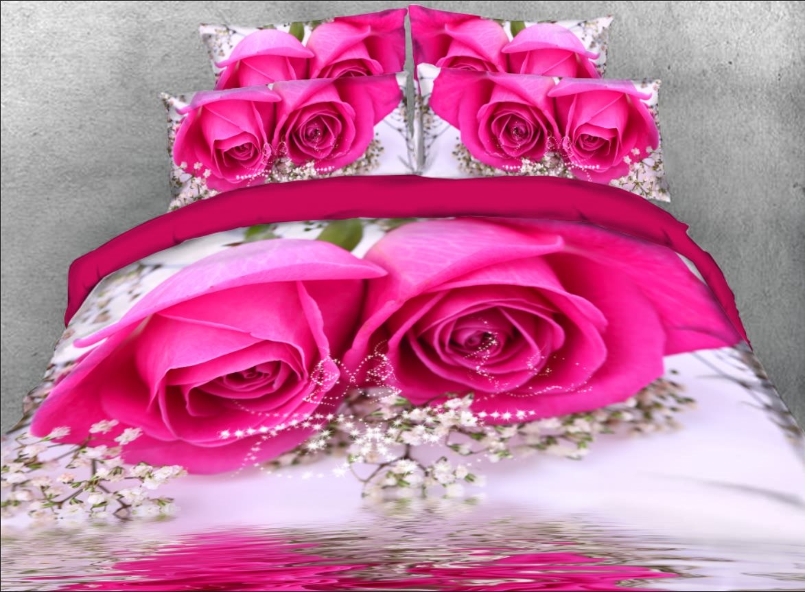 Vivilinen 3D Hot Pink Rose and Baby