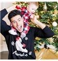 Fashion and Elegant Lattice Pattern Creative Twinset Family Christmas Pajamas