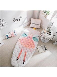 3D Little Princess Printed Cotton 1-Piece Baby Sleeping Bag