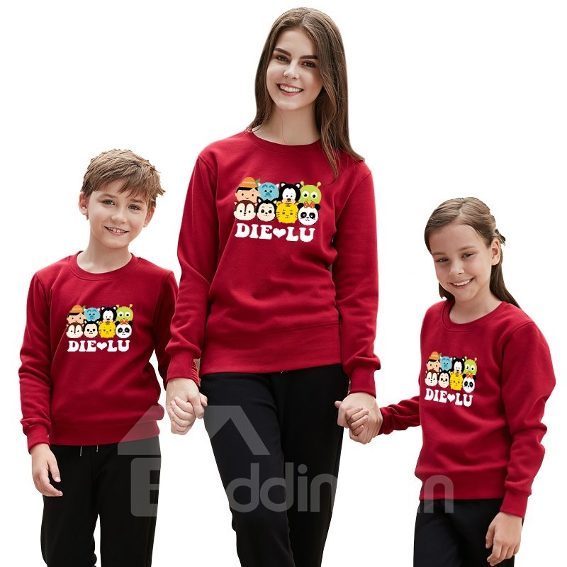 Modern and Elegant Animals with Letter Pattern Four Colors Family Christmas Pajamas