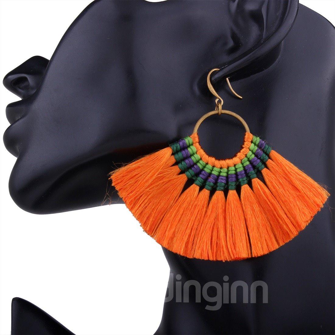 Boho Style Tassel Colorful Earrings for Women