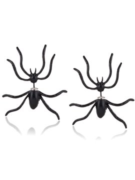 Spider Earrings Halloween Novelty Earrings 1 Pairs Black