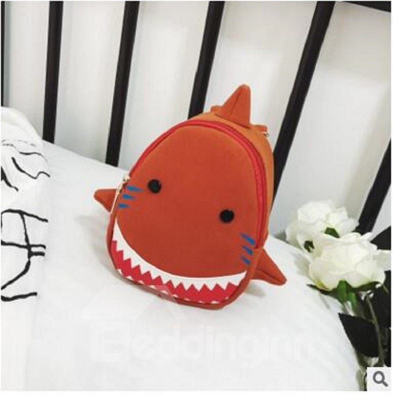 Shark Shaped Polyester Multi-Color Cute Kids Backpack