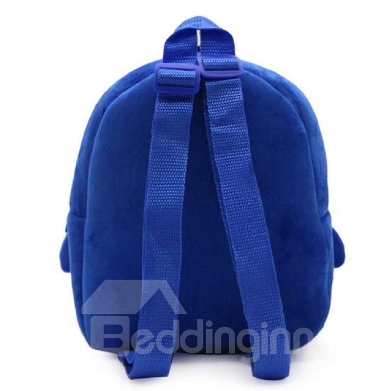 Penguin Shaped Polyester Blue Cute Kids Backpack