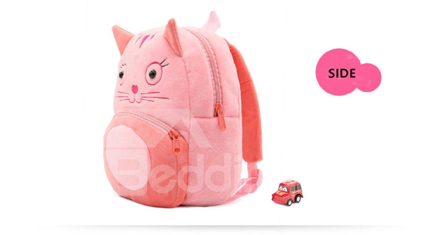 Cartoon Animals Shaped Plush Multi-Color Cute Kids Backpack