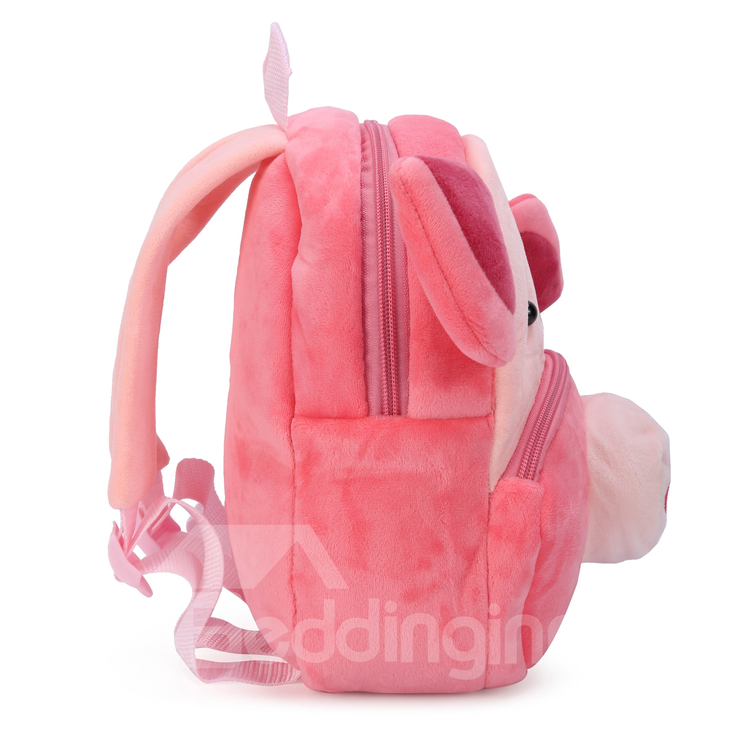 Pig Shaped Plush Pink Cute Kids Backpack