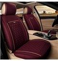 Cost-efficient Pure Color Diamond Check Pattern Antique Universal Car Seat Cover