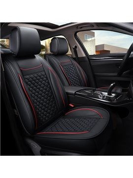 Cost-efficient 3D Waist Encircling Classic Design Leather Universal Car Seat Cover