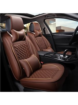 3D Waist Encircling Classic Design Leather Universal Car Seat Cover