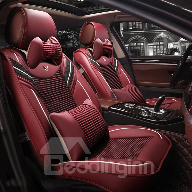 Stylish Unusual Ventilated Close-fitting Leather Universal Car Seat Covers