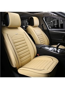 3D Stripe Design Conventional Exquisite Leather Universal Car Seat Covers