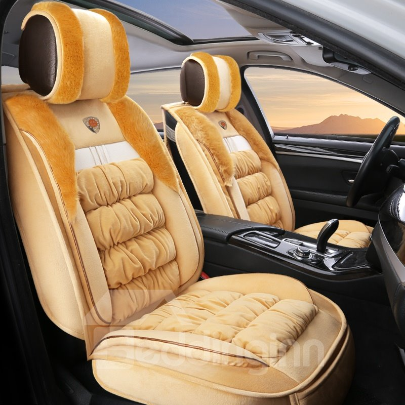 Elegant and Graceful Superior Warm Plush Winter Universal Car Seat Covers