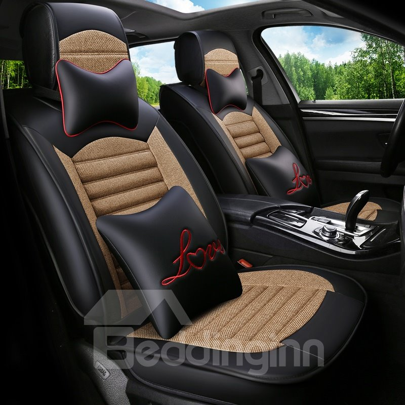 Good Air Permeability Durable Delicate Colors Universal Car Seat Covers