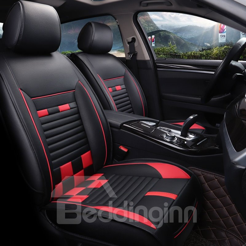 Sports Style Candy Strip Serviceable Universal Car Seat Covers