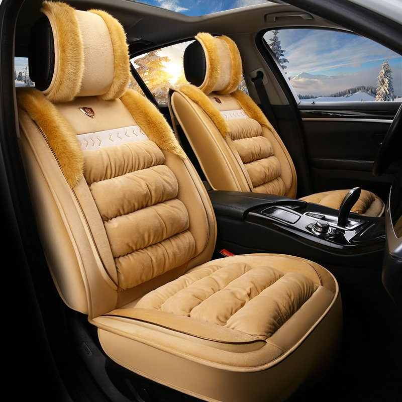 Exceptional Warm Suede Material Soft Universal Car Seat Covers