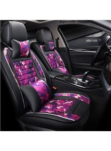 Authentic Camouflage Pattern Serviceable Leather Universal Car Seat Covers
