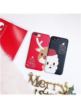 Merry Christmas Deer Santa Phone Cover for Apple 6/7/8 Plus X Cases