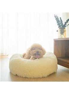 Fluffy Super Soft Pink Pet Dog Puppy Cat Bed Nest