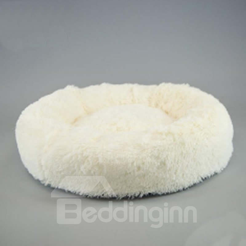 Fluffy Super Soft Pink Pet Dog Puppy Cat Bed Nest