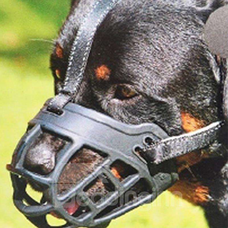 Image For Soft Silicone Muzzles-Adjustable Breathable Biting Chewing Barking Training Dog Mask
